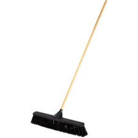 "Push Brooms, 24"", PP Bristles, For Rough Floor Surfaces, Black"