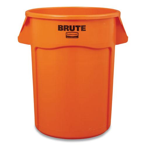 Brute Round Containers, 44 gal, Orange
