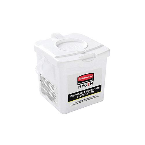Disposable Microfiber Charging Bucket, 7.92 x 7.75 x 7.44, White, 4/Carton