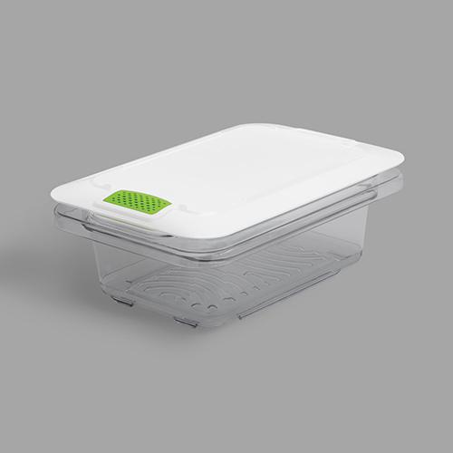 FreshWorks Produce Saver, 3 gal, 12 x 6.3 x 6.79, Clear/Green