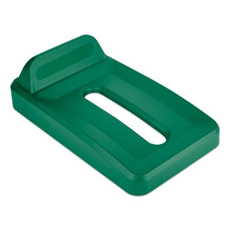 Slim Jim Paper Recycling Top, 11.3 x 20.4 x 2.8, Green