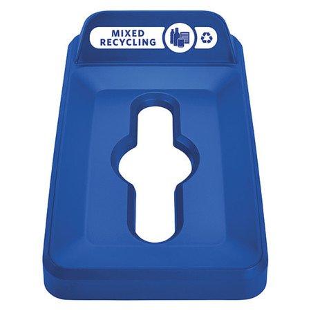 Slim Jim Paper Recycling Top, 11.52 x 20.43 x 6.01, Blue