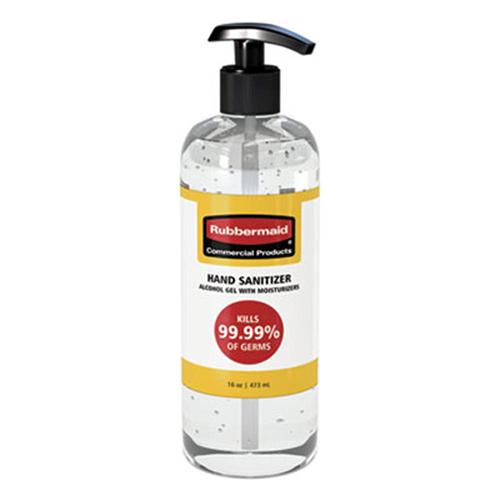 Table Top Gel Hand Sanitizer, 16 oz Pump Bottle, Unscented, 10/Carton