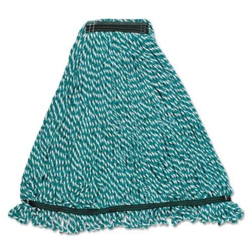 "Web Foot String Mop Heads, Microfiber, Green, Large, 1"" Green Headband"