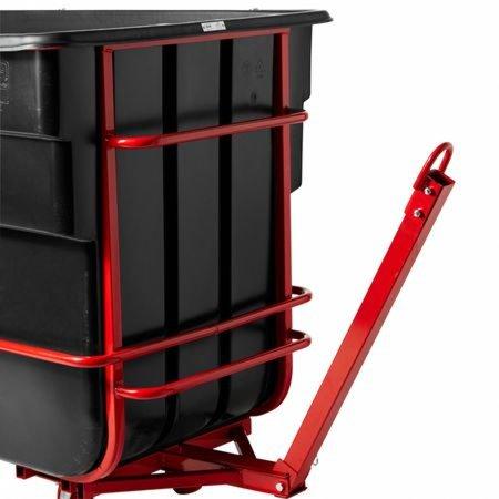 Rotomolded Towable Tilt Truck, Rectangular, Plastic, 1.5 cu yd, 2,100-lb Capacity, Black/Red