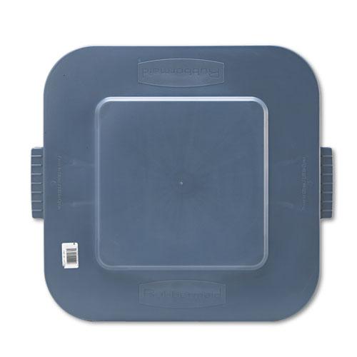 Square BRUTE Lid, 21.88w x 21.88d x 2.13h, Red