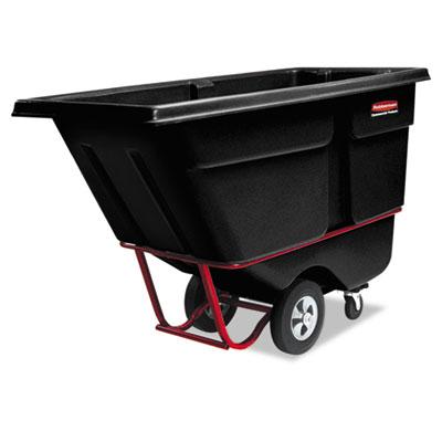 Rotomolded Tilt Truck, Rectangular, Plastic, 2100-lb Cap., Black