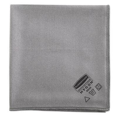 Executive Glass Microfiber Cloths, Gray, 16 x 16, 12/Pack