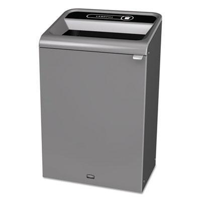 Configure Indoor Recycling Waste Receptacle, 33 gal, Gray, Landfill