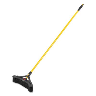 "Maximizer Push-to-Center Broom, 18"", Polypropylene Bristles, Yellow/Black"