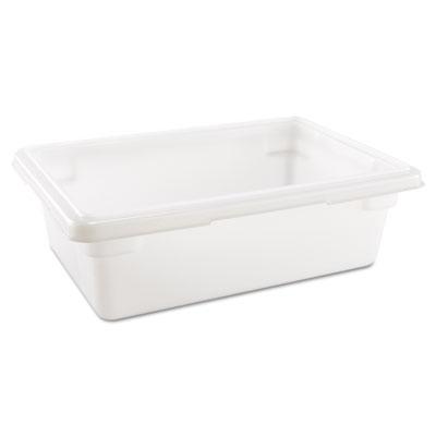 Food/Tote Boxes, 3.5gal, 18w x 12d x 6h, White