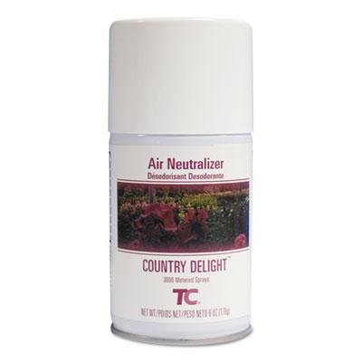 TC Microburst Odor Control System, Country Delight, 6 oz Aerosol, 12/Carton