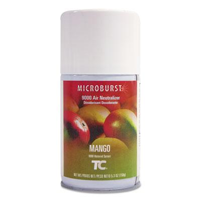Microburst 9000 Air Freshener Refill, Mango, 5.3 oz, Aerosol, 4/Carton