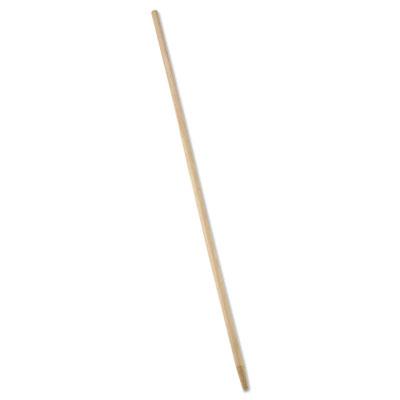 "Tapered-Tip Wood Broom/Sweep Handle, 60"", Natural"