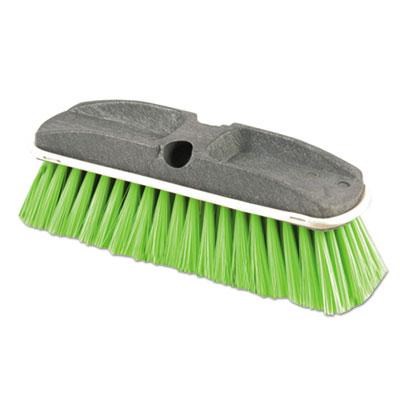 """Synthetic-Fill Wash Brush, 10"""" Yellow Plastic Block"""