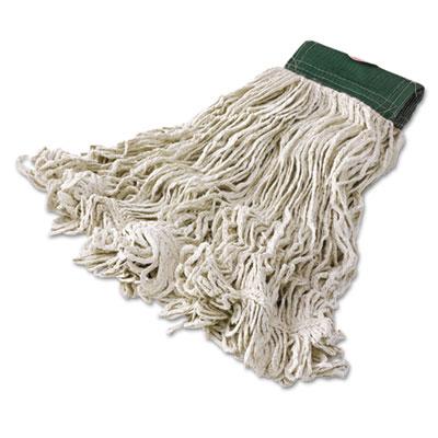 Super Stitch Blend Mop Heads, Cotton/Synthetic, White, Medium