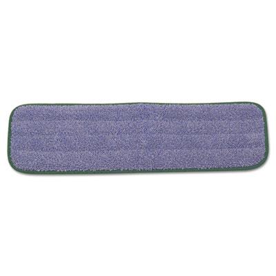"Microfiber Wet Mopping Pad, 18 1/2"" x 5 1/2"" x 1/2"", Green, 12/Carton"
