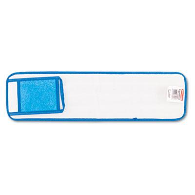 Microfiber Wet Room Pads, 24 in. Long, Split Nylon/Polyester Blend, Blue