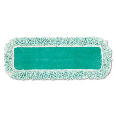 "Dust Pad w/Fringe, Microfiber, 18"" Long, Green, 6/Carton"