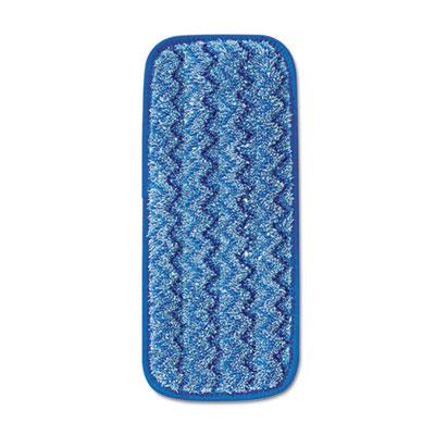 Microfiber Wall/Stair Wet Mopping Pad, Blue, 13 3/4w x 5 1/2d x 1/2h, 6/Carton