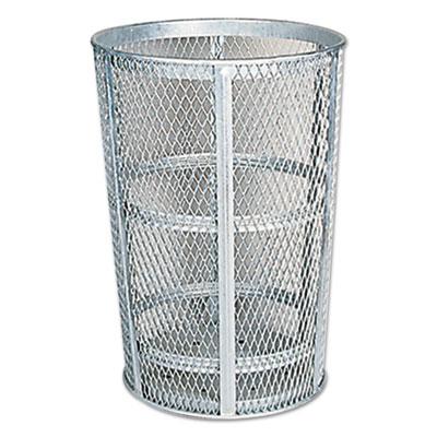 """Street Basket Waste Receptacle, 23"""" Diameter, 45 gal, Silver"""