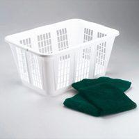 Rubbermaid FG296585WHT Laundry Basket, 1.25 bushel, 16.47 in H x 22-1/2 in W x 10.87 in D