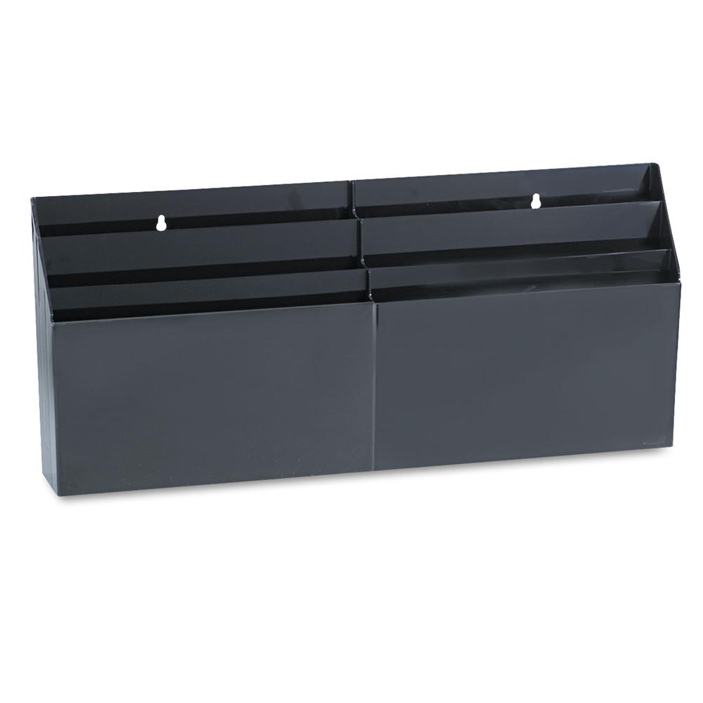 "Optimizers Six-Pocket Organizer, 26 21/32"" x 3 4/5"" x 11 9/16"", Black"