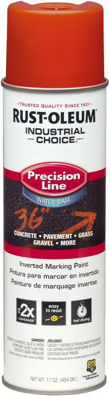 Industrial Choice Precision Line Marking Paint, Orange, 20 oz Aerosol
