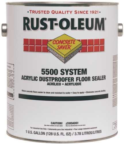 RUST-OLEUM� CONCRETE SAVER� 5500 SYSTEM <100 VOC ACRYLIC DUST PROOFER FLOOR SEALER, CLEAR, 1 GALLON