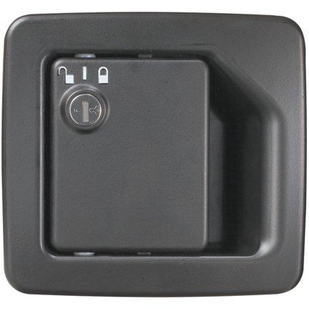 MOTORHOME ENTRANCE DOOR LOCK, BLACK, W/O DEADBOLT (TRIMARK 060-1625)