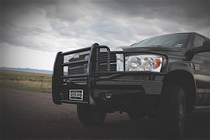06-09 RAM 1500/2500/3500 MEGA CAB LEGEND FRONT BUMPER BLACK