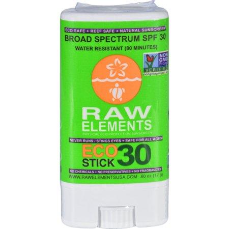 Raw Elements Eco Form Sunscreen Stick SPF 30 Plus (1x 6 Oz)