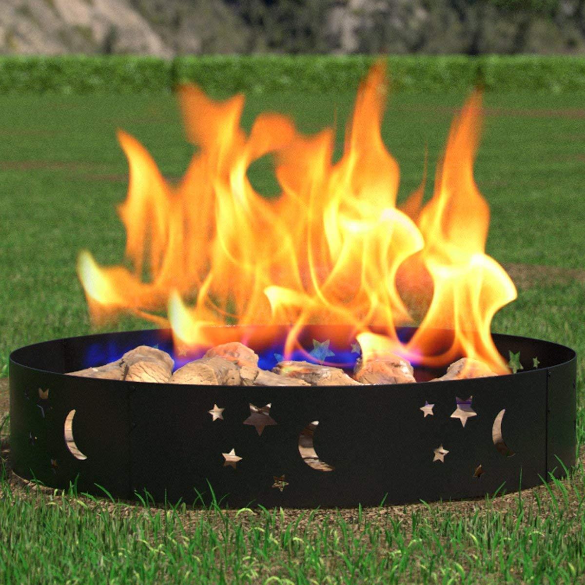 Regal Flame Saturn Sphere Outdoor Backyard Garden Home Light Fire Pit - Aged Bronze