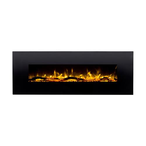 "Elite Flame Nile 72"" Log Electric Wall Mounted Fireplace"