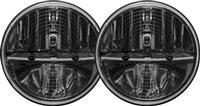 RIGID 7 Inch Round Heated Headlight Kit With PWM Adaptor   Pair