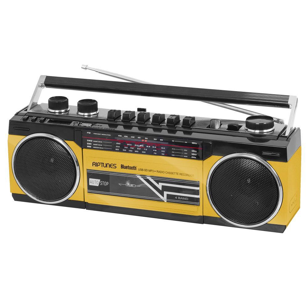 RIPTUNES RETRO CASSETTE RADIO SD/USB/BT