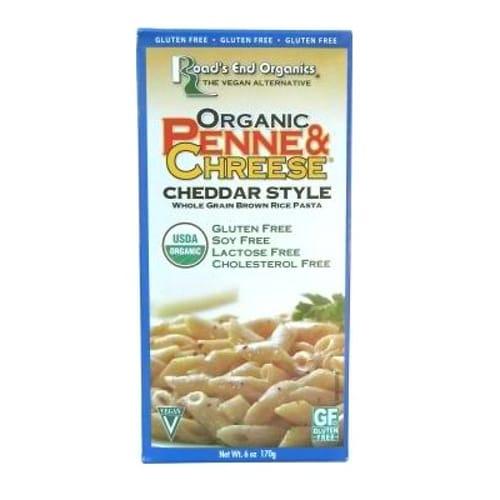 Roads End Organics Org Brown Rice Penne & Chreese Gluten Free (12x6 Oz)