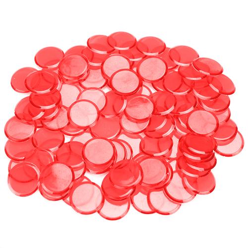 100 Pack Red Bingo Chips