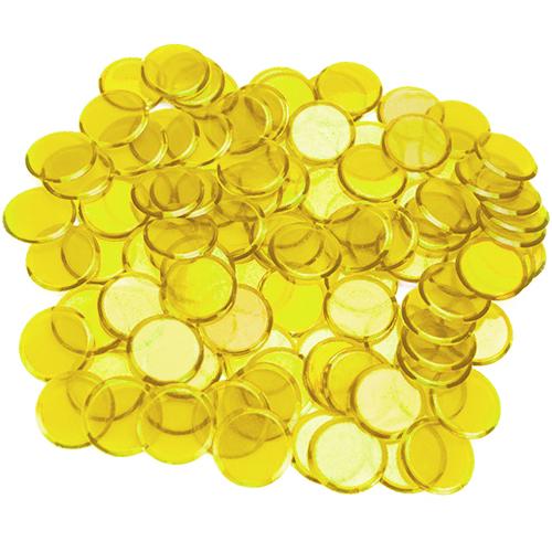 100 Pack Yellow Bingo Chips