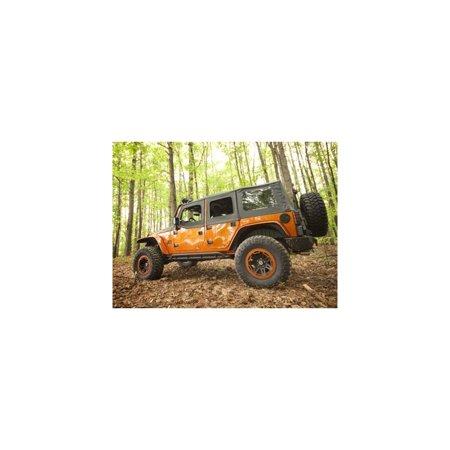 8 Piece Flat Flare and Fender Liner Kit; 07-16 Jeep Wrangler JK