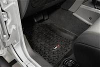 Floor Liners, Front, Black; 07-16 Jeep Wrangler JK