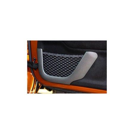Front Charcoal Door Net Trim; 11-16 Jeep Wrangler JK