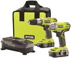 RYOBI� 18-VOLT DRILL AND IMPACT KIT