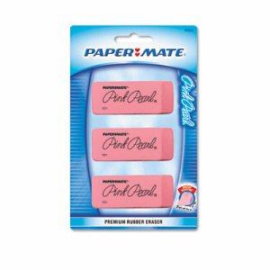 Pink Pearl Eraser, Large, 3/Pack
