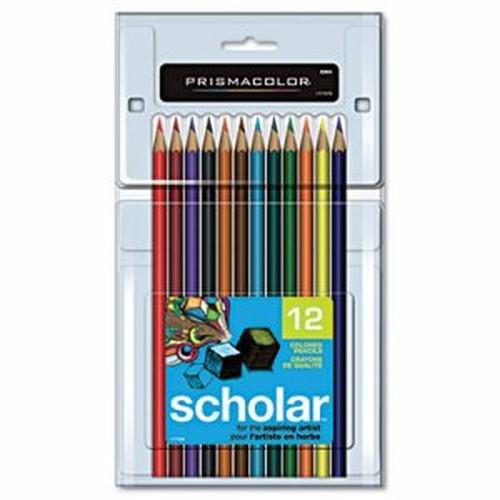 Scholar Colored Pencil Set, 2B, 12 Assorted Colors/Set