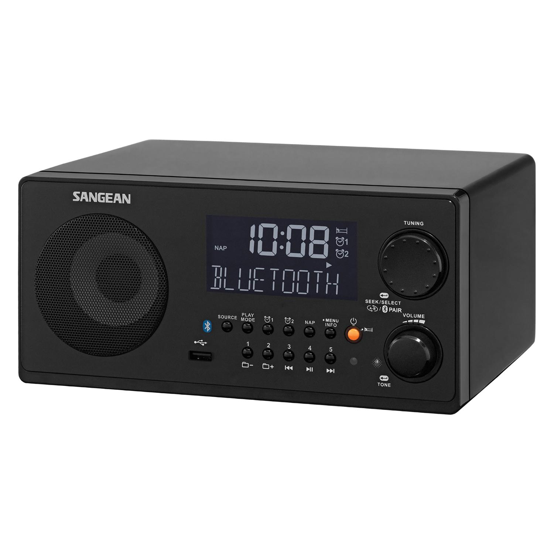 SANGEAN WR22BK FM-RBDS/AM/USB Bluetooth Digital Tabletop Radio with Remote