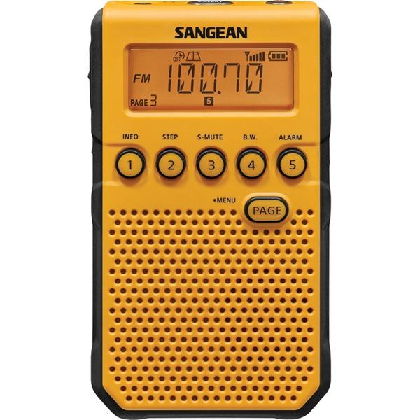 SANGEAN DT800YL YELLOW AM/FM NOAA WEATHER ALERT POCKET RADIO