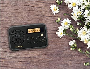 SANGEAN SG-104 BLACK AM/FM CLOCK PORTABLE DIGITAL RADIO
