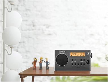 SANGEAN SG-106 GRAY/BLACK AM/FM STEREO DIGITAL TUNING PORTABL