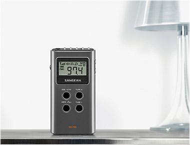 SANGEAN SG-110 DARK GRAY AM/FM STEREO DIGITAL TUNING POCKET R